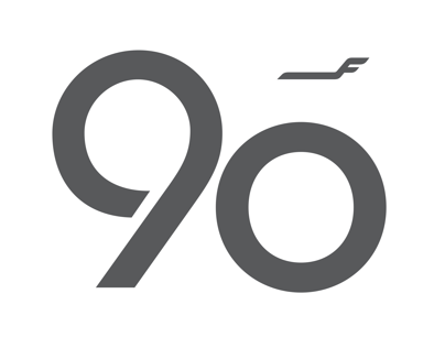 Finnair 90 Years Emblem, 2012
