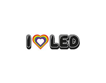 I Love Led Logo Design