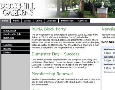 Rockhill Gardens Neighborhood Association Digital