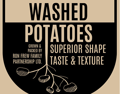 Potato bags, Ron Frew growers, Ohakune, New Zealand