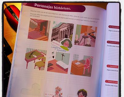 Educational Children's book illustrations