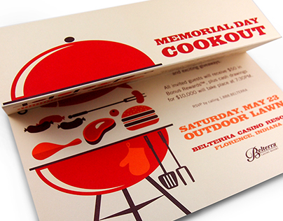Memorial Day Cookout Invitation