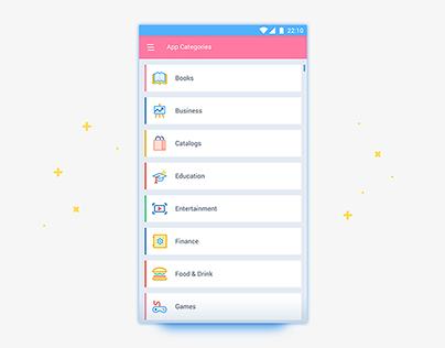App Categories List UI Page