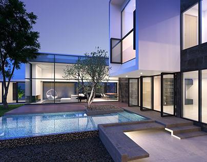 Modern villa visualization in Thailand