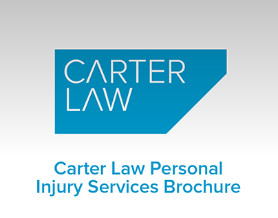 Carter Law Personal Injury Services Brochure
