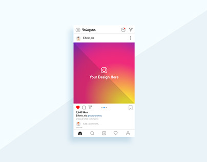 Instagram Post Mobile Mockup