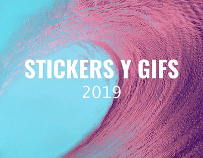 Stickers y Gifs 2019