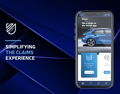 Nordi Insurance mobile application. UX/UI