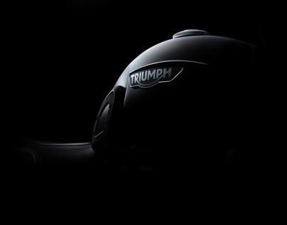 Triumph motorcycle fine art photography (FDL technique)
