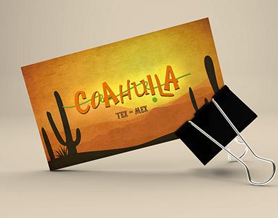 Criação Cartão de Visitas - Coahuila Tex-Mex