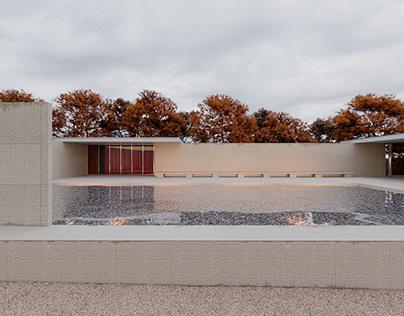 Re-construction Pabellón de Barcelona.Mies van der Rohe