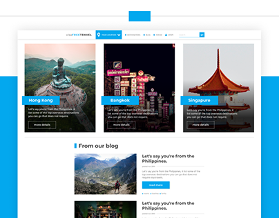 Travel Site Layout