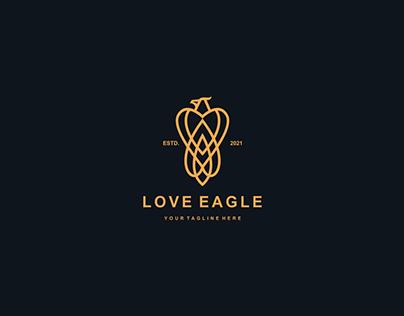 Love eagle logo design