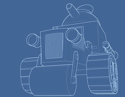Wacky Races Tank - 3D