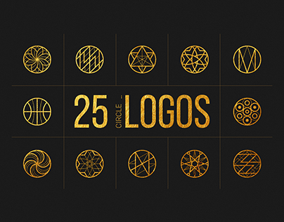 25 Linear Geometric Logos. Part II