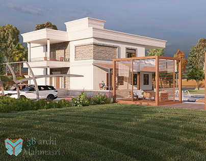The exterior design of the Villa With Landscape.
