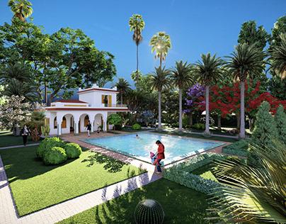 VILLA_Moroccan style house