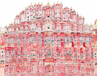Jaipur Travel Log(Illustrations)