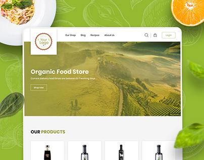 Organic Food Store Template | FREE Figma