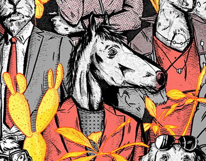 Bojack Horseman tribute poster