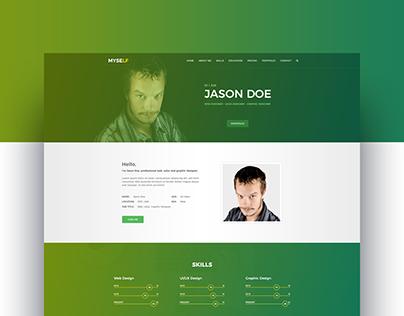 Myself - CV/Resume & Personal Portfolio Web Template