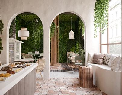 Eco cafe concept
