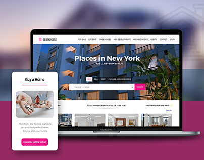 Real Estate Property Portal Responsive Design