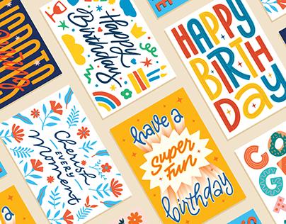 Lettering Cards - Set 01