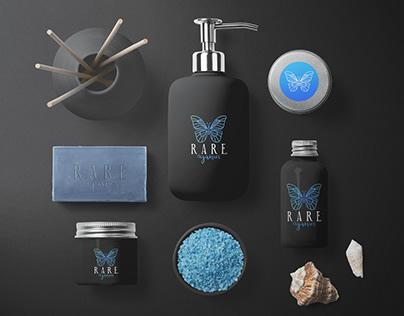Logo RARE. organics (cosmetic)
