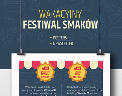 Posters and newsletter designs - Holiday Food Festival