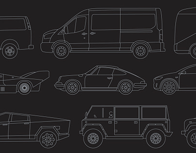 Outlined Car Mockups