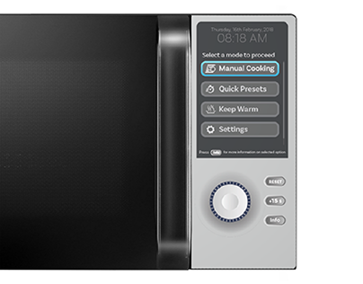 Redesigning a microwave's interface