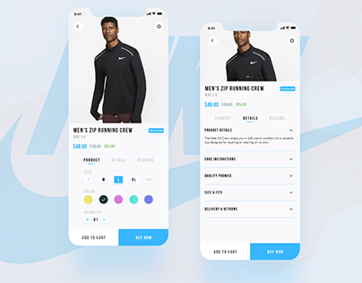 E-Commerce App Product Page Concept- Nike