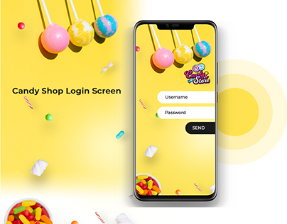 Candy Shop Login Screen