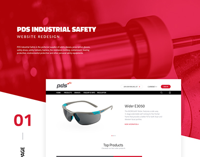 PDS Industrial Safety Website Redesign