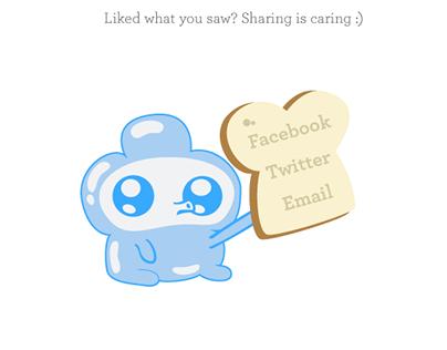 DailyUI 10 – Social Share