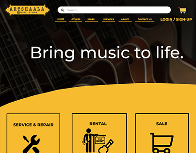 Ecommerce site for musical gear and accessory.