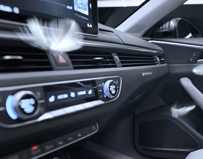 Audi A4L CGI+real-shooting film – feather version