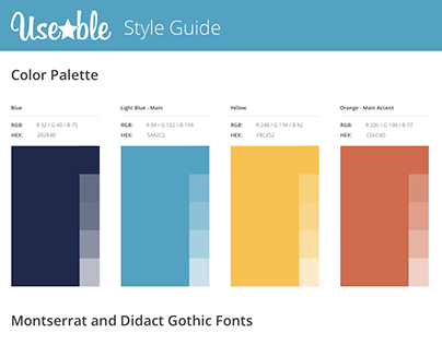 Revamped Style Guide for Useable.co