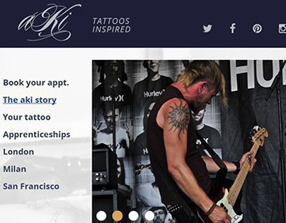 AKI TATTOO PARLOR WEBSITE