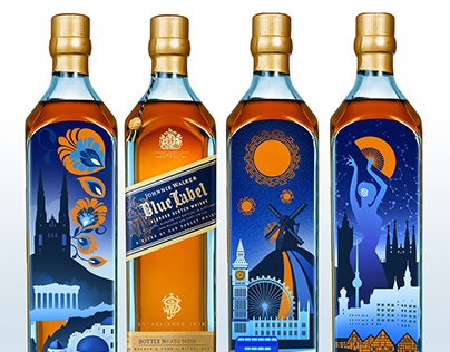 Johnnie Walker Blue Label Bottle Design/Дизайн бутылки