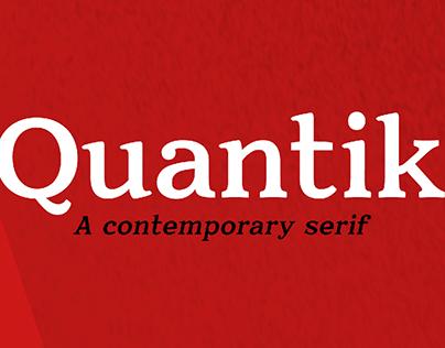 Quantik - Contemporary Serif Typeface