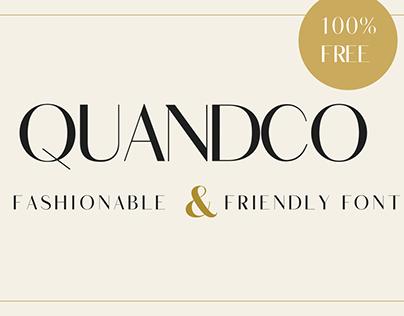 Quandco Free Font