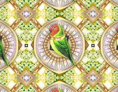 Pattern design Bling Birds 13 Edouard Artus ©2018