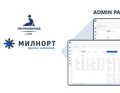 Admin Panel Milnort By Petroholod