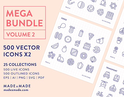 Line Icons – Mega Bundle Volume 2