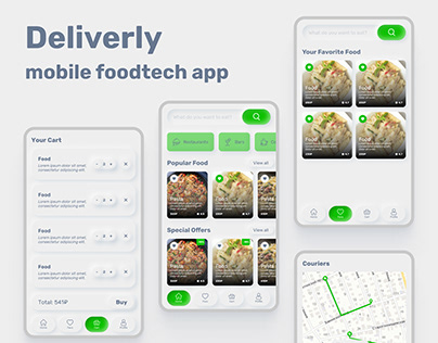 Deliverly - Foodtech mobile application