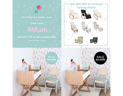 Nursery Design Instagram Promotional Graphics