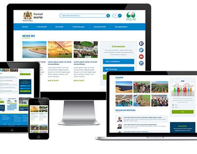 """Maquette portail & website """"Ministère d'Agriculture"""""""