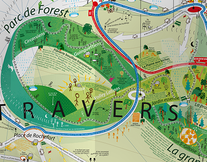 Subjective map of Forest - Brussels - Belgique